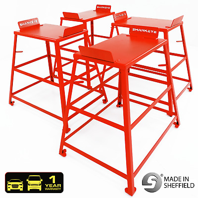 QuickTrak 800mm Tall Wheel Alignment Tracking Tables. Handmade in the UK.