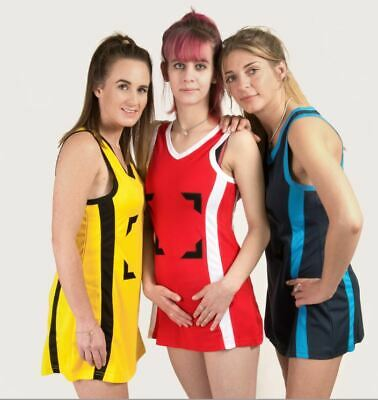 Netball Dress - Navy Sky - 7 sizes available from stock - Brand New