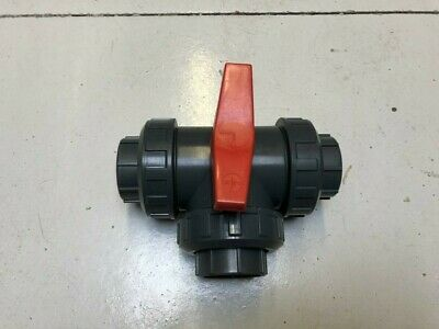 "1 1/4"" 3 Way Solvent Weld Pvc Ball Valve *L-Port*"