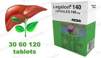 Legalon 140Mg 30 60 120 capsules Cleanse Detox Supplement Liver Support Легалон