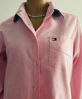Tommy Hilfiger Womens Pink Long Sleeve Button Front Shirt Size 6