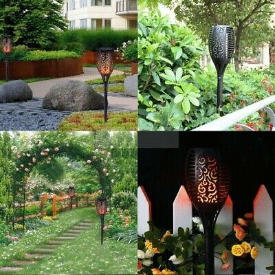 WaterproofLED 2/4 PCS 96 Solar Torch Light Dancing Flickering Flame Lamp Garden