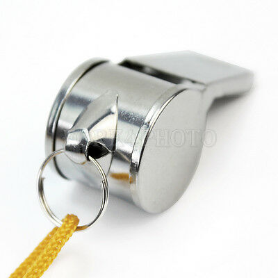 New Metal Referee's Sports Whistle Keyring School Pe Football Rugby Party Hot