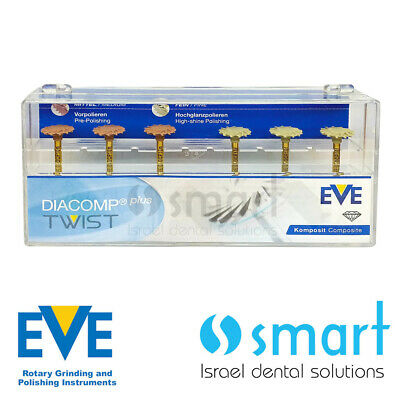 Dental Eve Diacomp Plus Twist RA 343 composite polishing diamond system EVE 10mm