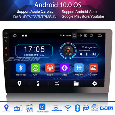 "1 Din 10.1"" DAB+Car Stereo Detachable Android 9.0 GPS Sat Nav Bluetooth WIFI SWC"