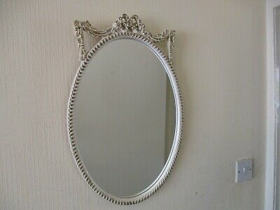 Beautiful Vintage French Louis Xv Oval Wall Mirror