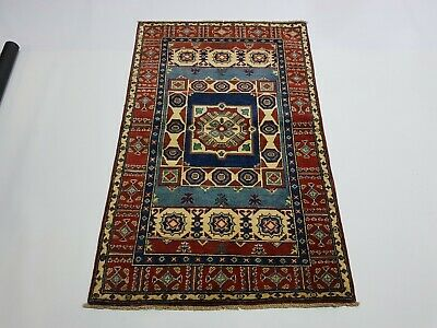 5'1 x 2'6 Antique Hand Knotted Wool Rug Wool Persian Kazak Area Rug Carpet #873