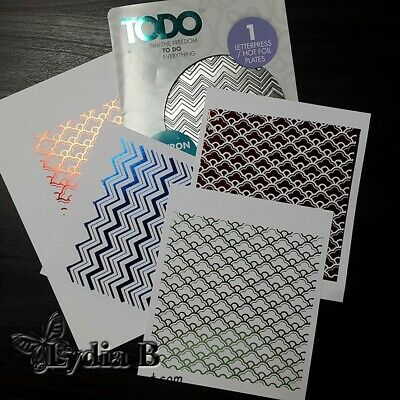 TODO Hot Foil Letterpress foiling Hot foil plate Thank you Cardmaking Papercraft
