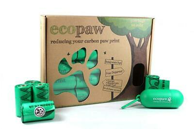 ecopaw Dog Poo Bags Biodegradable 300 Large Scented Poop 20 Rolls of Strong...