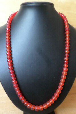 Alte böhmische Glasperlen, rot, rund, Old Bohemian Trade Beads, red, round