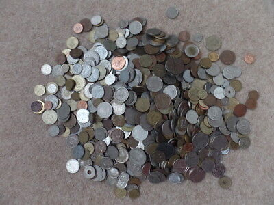 Vintage Bulk Lot 1.5 kilos Mixed Collection World Coins. Good Used Condition.
