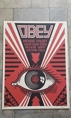 Obey Eye : Signed + Numbered Screen Print : Obey : Shepard Fairey  : 2009