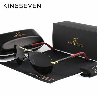 KingSeven Mens Vintage Aluminium Polarized Shades Sunglasses Classic Summer