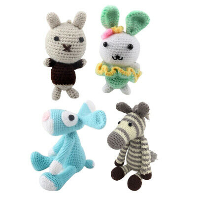 4Pcs Animal Amigurumi Crochet Kit DIY Material Package Crafts Supplies