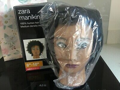 Zara Afro Manikin Hair Training Head Salon Services NEW