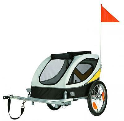Friends On Tour Bicycle Trailer, 63 x 68 x 75 cm, Medium, Grey/Black/Yellow,...