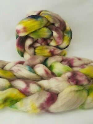 Hand dyed BFL roving, wool top, 100 g, MOORLAND