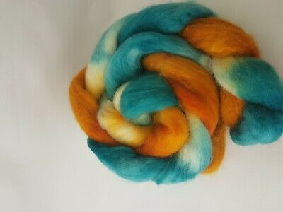 Hand dyed BFL roving, wool top, 100 g, NOT ALL IS GOLD WHAT SHINES