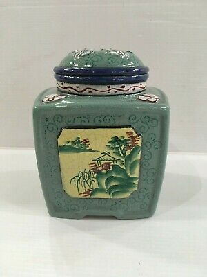 Chinese Yixing Zisha  ENAMEL COVER VASE TEA CADDY TEAPOT MARKED