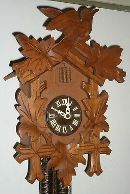 Gorgeous Lightly Used German Black Forest Traditional Hand Carved Cuckoo Clock!