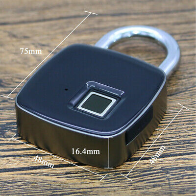 Fingerprint Unlock  Smart Keyless Lock IP65 Waterproof Padlock USB Recharger