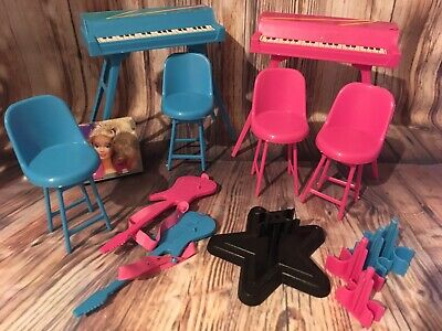 vintage barbie doll spare accessories/keyboards for rockers stage playset 1980s
