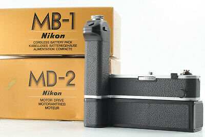 【UNUSED IN BOX】 Nikon MD-2 w/ MB-1 Motor Drive + Battery Pack For F2 Japan C468