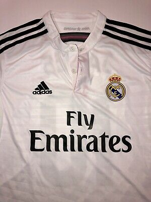 ee0e8d0eeb5 Nwt Adidas Real Madrid Home Authentic 14 15 James Rodriguez Jersey Climacool