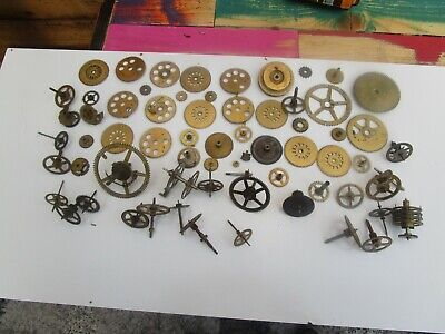 Job Lot Of Antique And Vintage Clock Wheels And Cogs