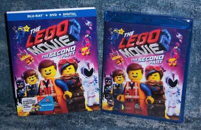 New The Lego Movie The Second Part Blu Ray & Dvd Movie Digital 2019 & Slipcover