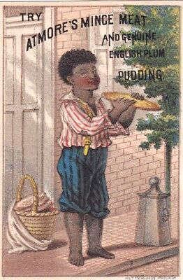 Atmore's Mince Meat & Plum Pudding*Black Americana*Ketterlinus Litho*Trade Card