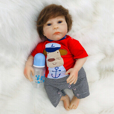 Toddler Reborn Boy Baby Doll Silicone Vinyl Realistic Newborn Toy Kids Gift New