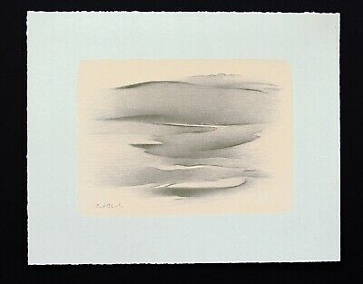"""Earl Stroh """"Landscape for Jan"""" Signed Original Stone Limited Edition Lithograph"""