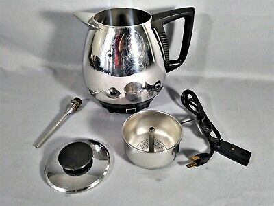 Vintage Permanent Automatic Coffee Maker Percolator 10 Cup Model 10A Works Well.