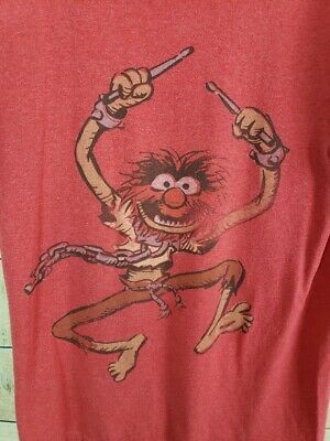 THE MUPPETS Womens S Red Animal T-Shirt