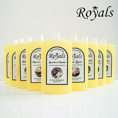 Royals Reed Diffuser Oil Refill 300ml Room Air Freshener Natural Essential Oils
