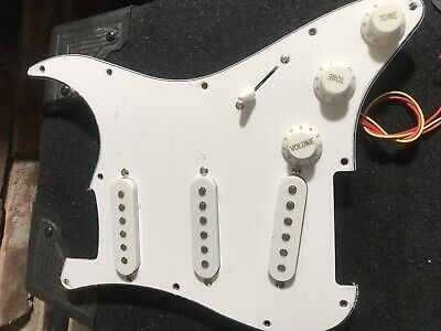 Prewired Loaded SSS Pickguard For Stratocaster / Strat, 11 Hole, Fast Free Ship.