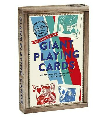 """Giant Super Jumbo 8.4X5.5"""" Playing Cards Top Quality 52 Cards + 2 Jokers"""