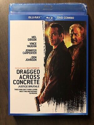NEW Dragged Across Concrete Blu Ray & DVD w Slipcover Canada 2019 Vince Vaughn