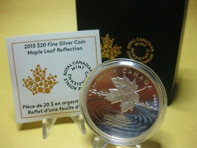 2015 $20 Fine Silver Coin - Maple Leaf Reflection