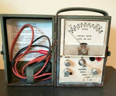 Vintage Electronics Portable Ohmeter in Metal Case Model # 467A