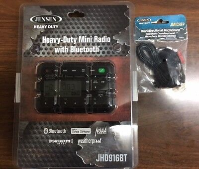JHD916BT Weatherproof Radio with Bluetooth, includes microphone