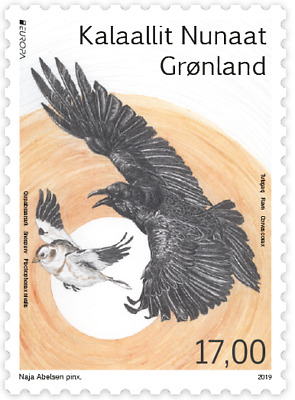 GREENLAND 2019 CEPT EUROPA NATIONAL BIRDS 2 STAMPS issue date 21-6-19