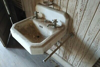 Antique American Radiator &  Standard Sanitary Co. 1941 Cast Iron Sink,