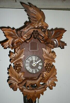 Rare German Black Forest Bachmeier & Klemmer Fox In Grape Vineyard Cuckoo Clock!