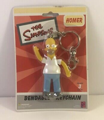 HOMER SIMPSON W// HARDHAT BENDABLE FIGURE W// SUCTION CUP SALE!!