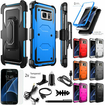 For Samsung Galaxy S7 / S7 Edge Case Cover Shockproof Hybrid Hard Rugged Rubber
