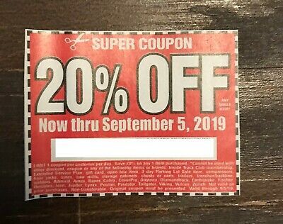 (1) Harbor Freight 20% Off Discount Coupon - Home Depot, Lowe's! Expires 9/5/19