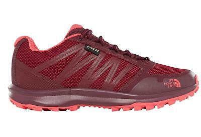 Womens The North Face Litewave Fastback Foil Grey Cayenne Red Trainers UK Size