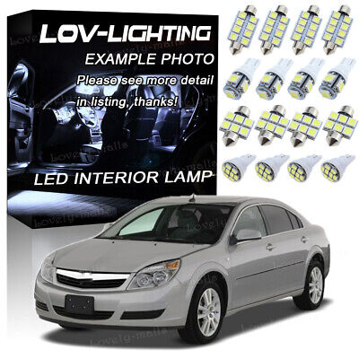 8x White LED Lights Interior Package Deal For 2007 2008 2009 2010 Saturn Aura